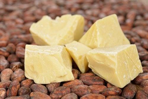 Porciones de manteca de cacao