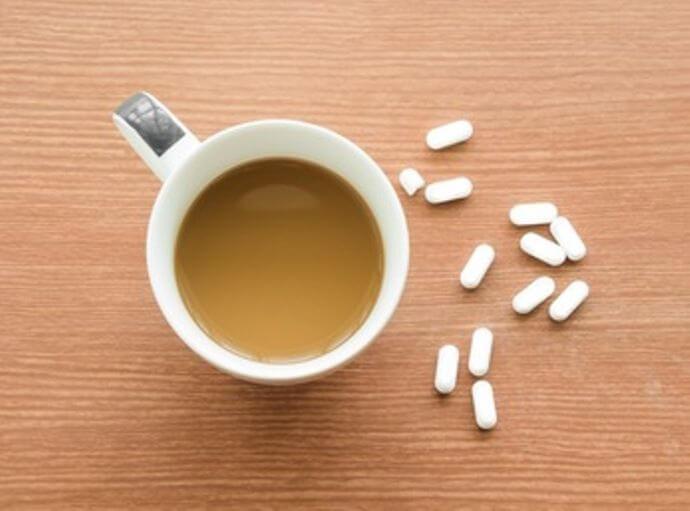 Café con analgésicos