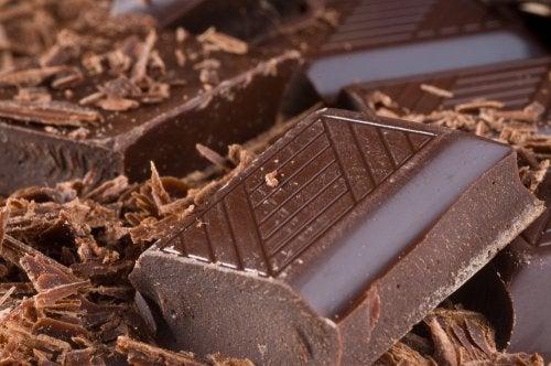 Onzas de chocolate negro