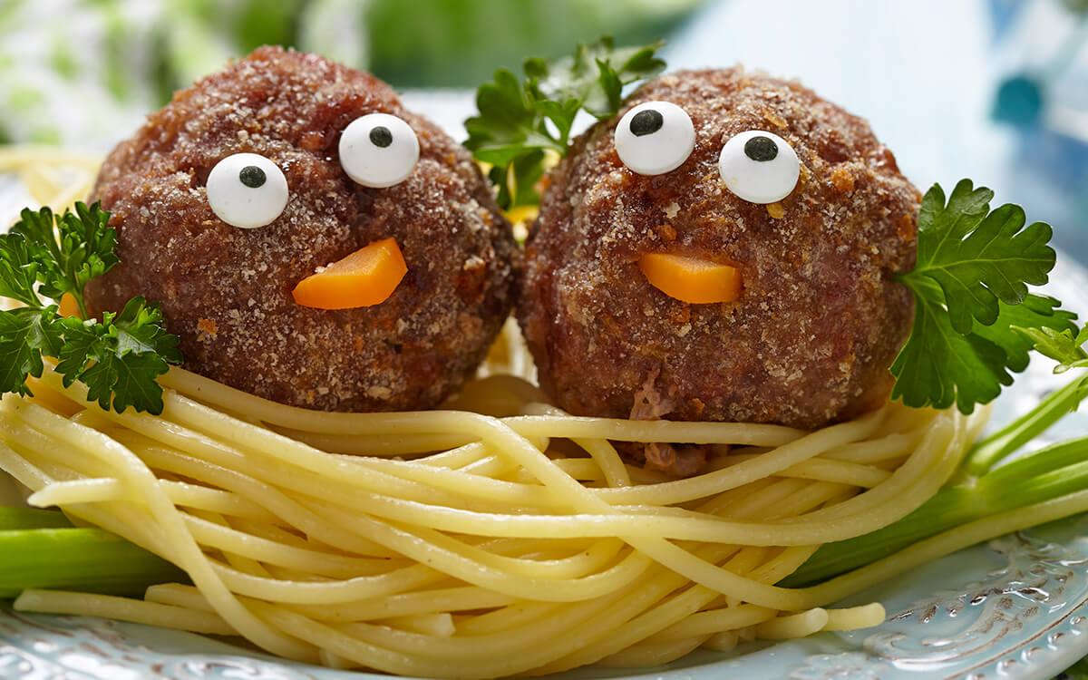 espaguetis para niños