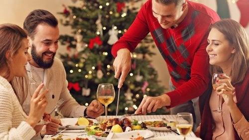 como preparar una cena navideña saludable