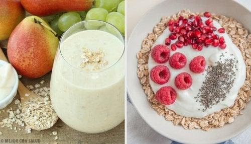 Desayunos y meriendas para bajar de peso