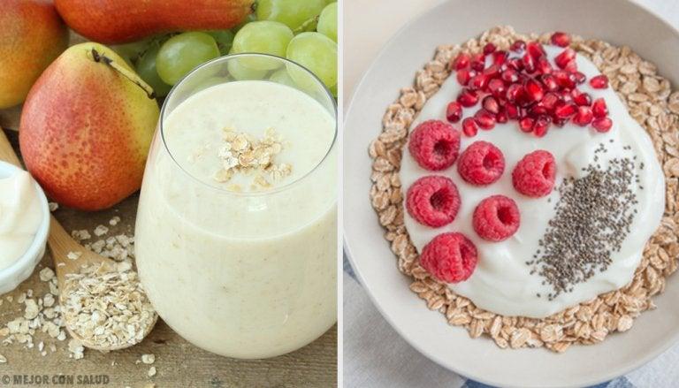 4 desayunos con avena para acelerar el metabolismo