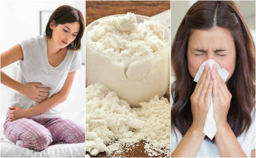 5 efectos secundarios de la caseína en la salud