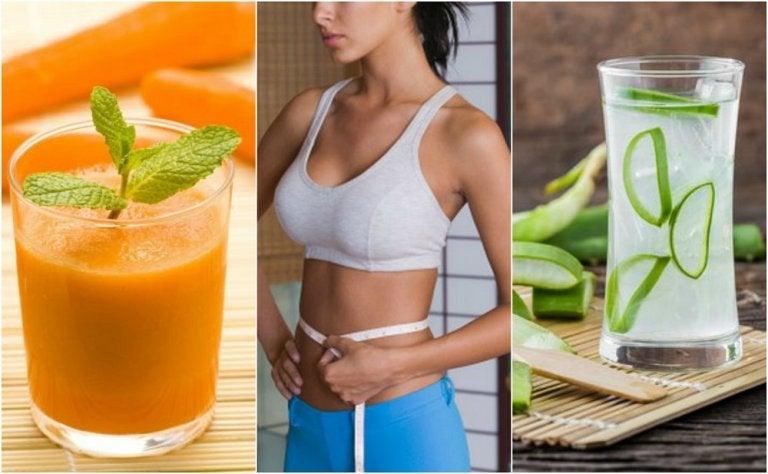 5 jugos que te ayudan a adelgazar el abdomen