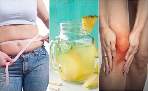 5 razones por las que deberías beber agua de piña