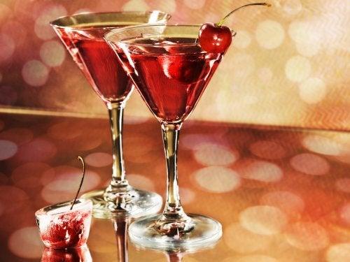 cóctel de cereza sin alcohol
