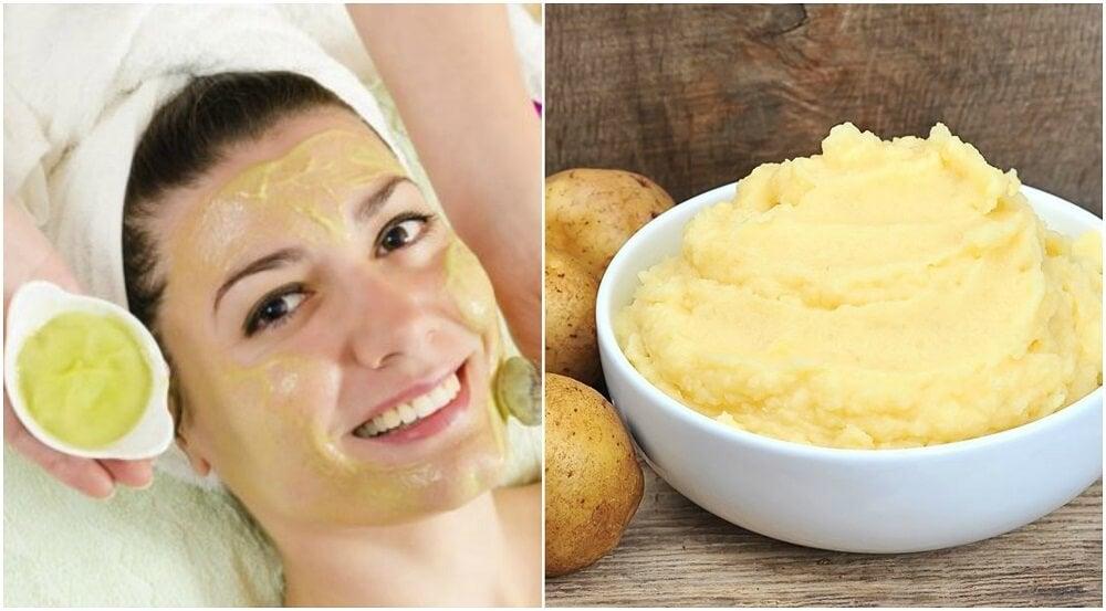 Cómo hacer una mascarilla exfoliante de patata para pieles..