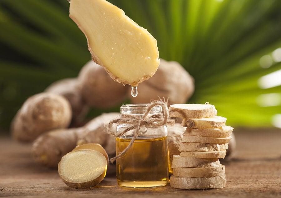 El jengibre es uno de los ingredientes de la loción antiinflamatoria para músculos y articulaciones
