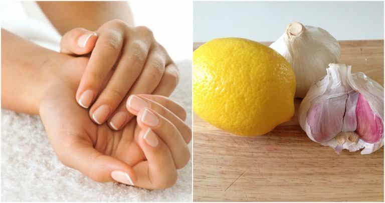 Endurecedor de ajo y limón para fortalecer las uñas