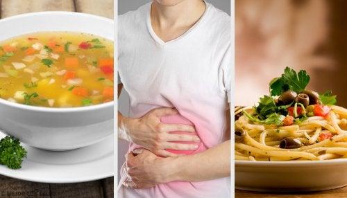 Cena dieta para gastritis