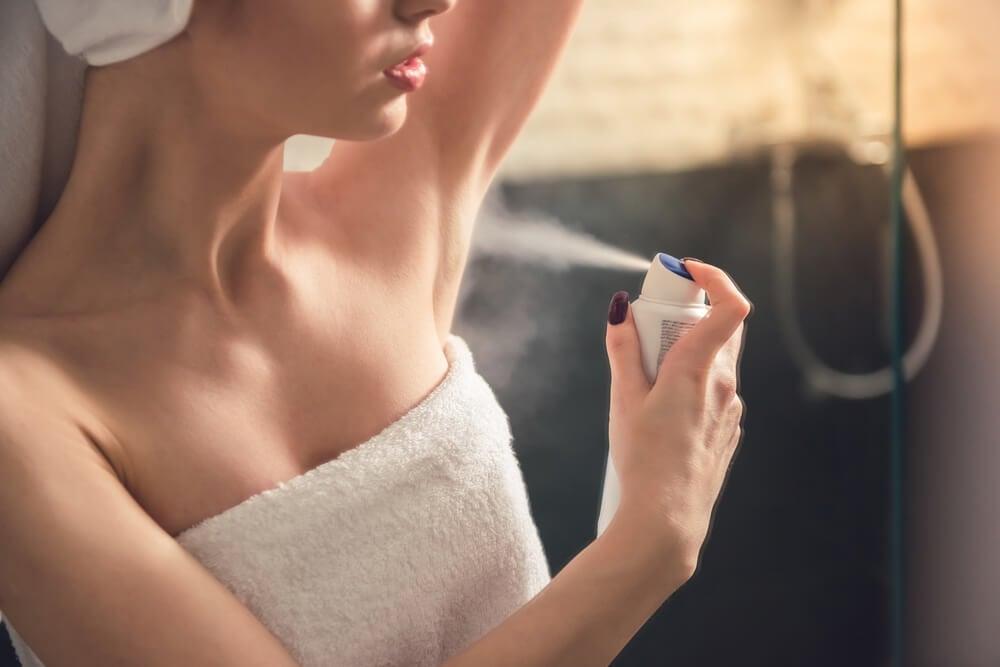 El uso de antitranspirante