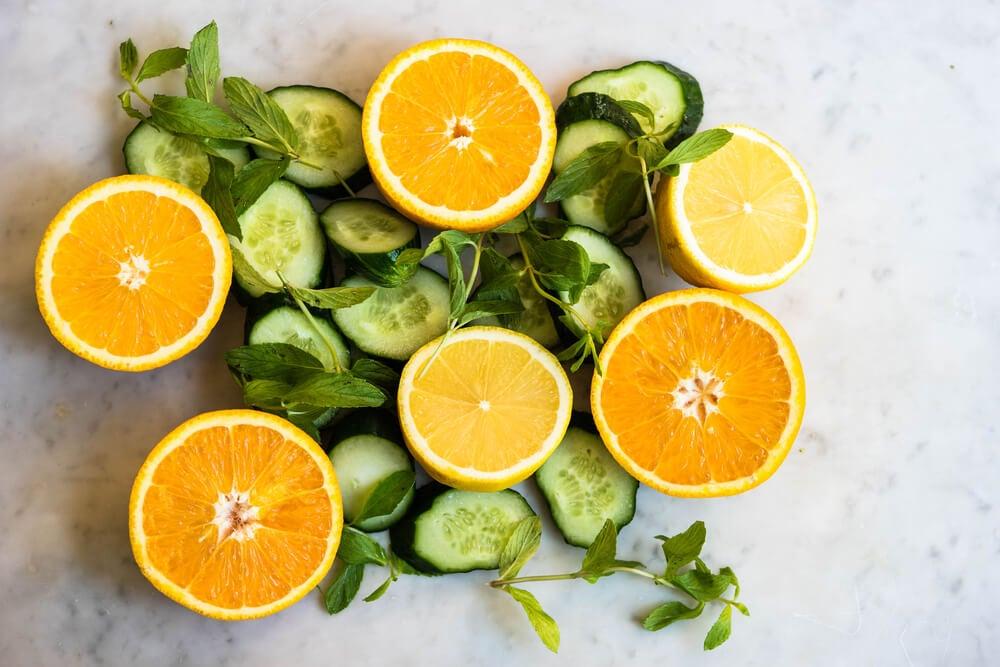 Espray de pepino y naranja