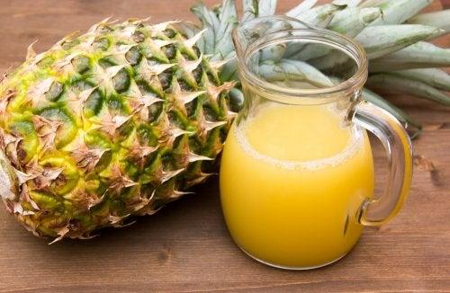 zumo de piña para perder peso