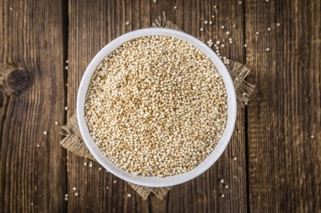 Quinoa rica en fibra.