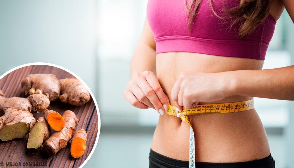 Bebida de cúrcuma y jengibre para acelerar el metabolismo y adelgazar