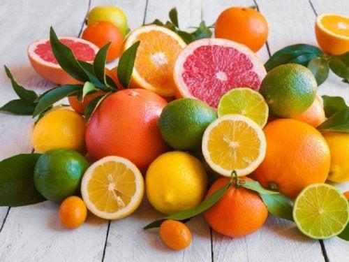 Vitaminas presentes en los cítricos.
