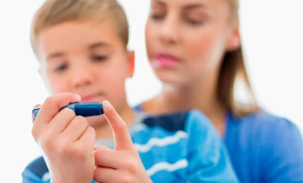 Diabetes en un niño.