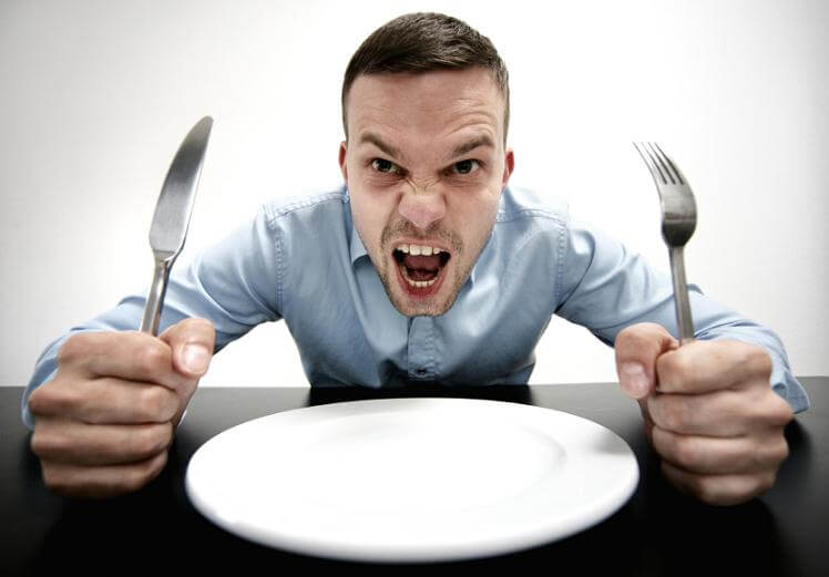 Diferencia entre hambre real o emocional.