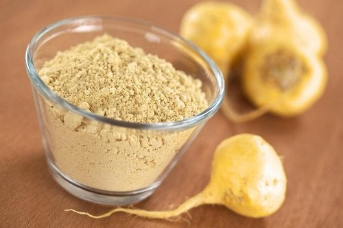 Batidos de proteína vegetal: maca.