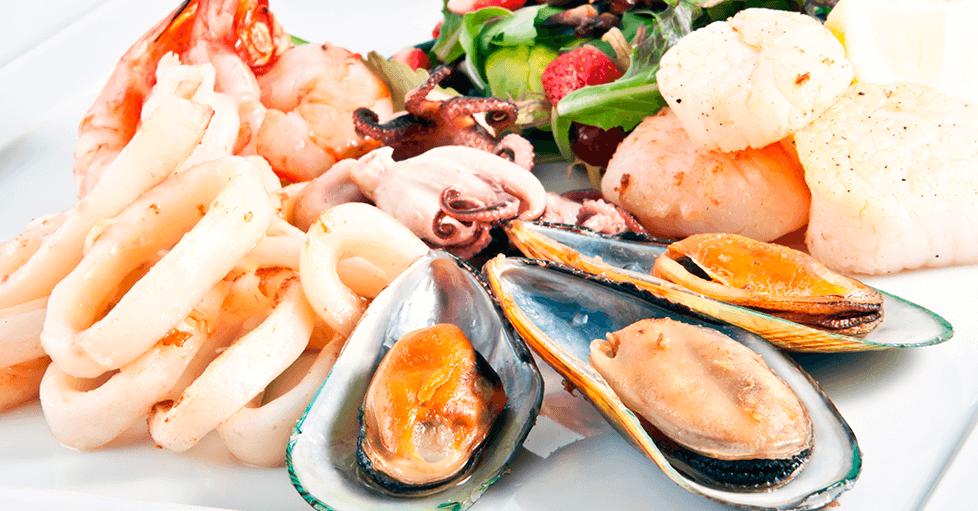 pescados y mariscos tiroides