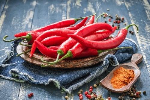 Propiedades de la capsaicina, presente en el ají picante