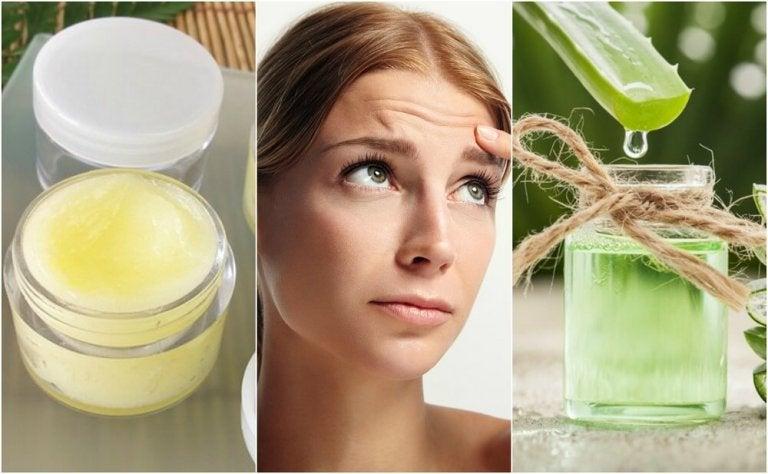 5 tratamientos naturales para suavizar las líneas de la frente