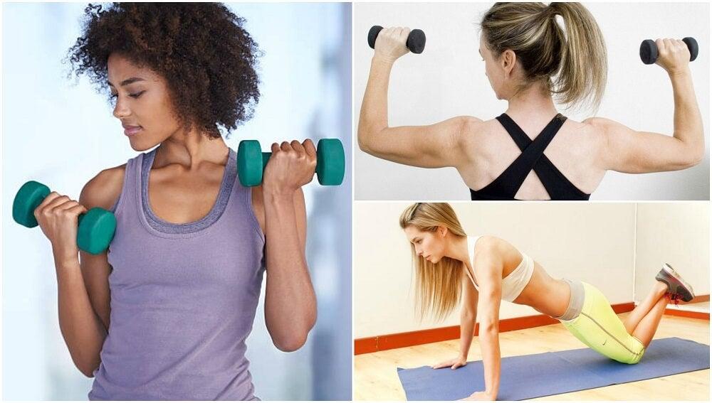 5 ejercicios para moldear tus brazos sin ir al gimnasio