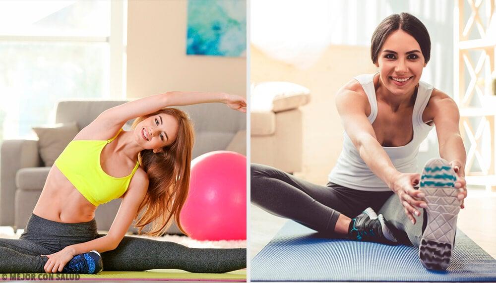 8 ejercicios fáciles para hacer en casa - Mejor con Salud