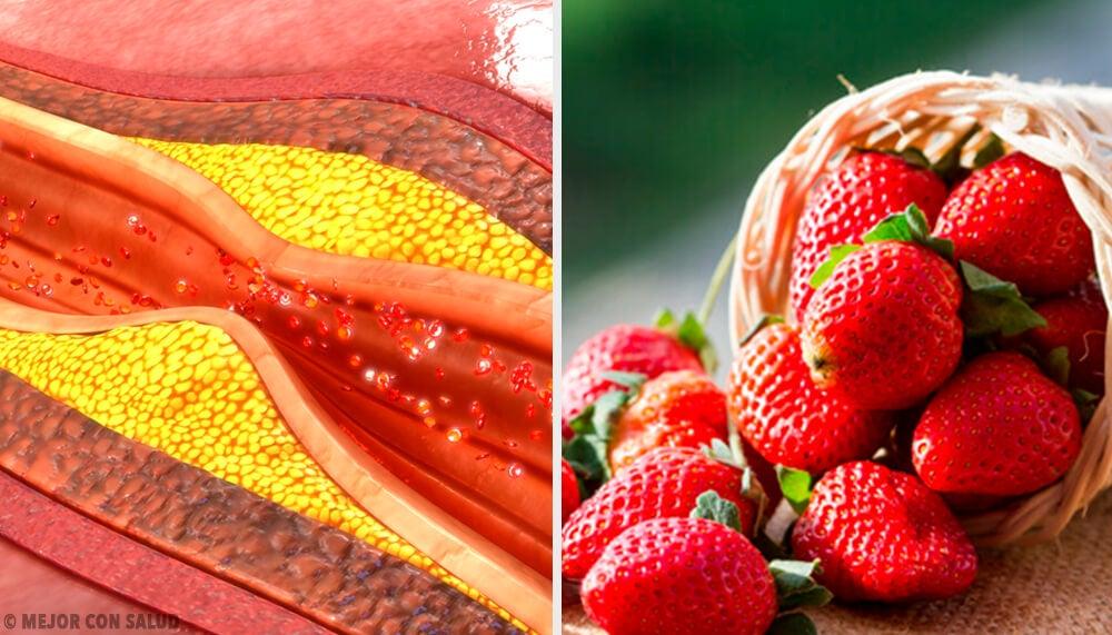 Beneficios de las fresas para regular el colesterol y los triglicéridos