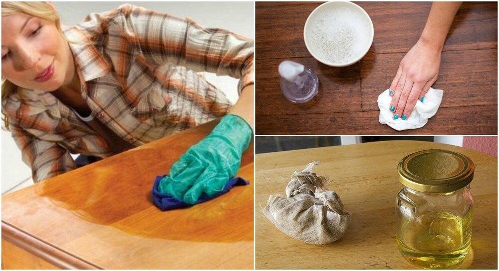 Cómo hacer 5 limpiadores naturales para tus muebles de madera