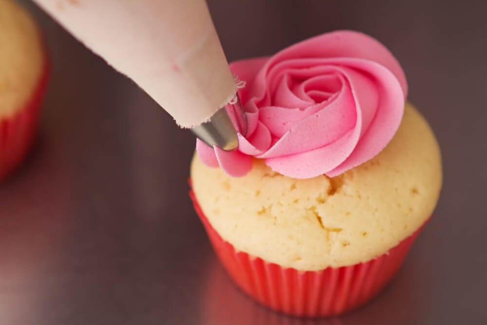 Cupcakes de fresas y vainilla