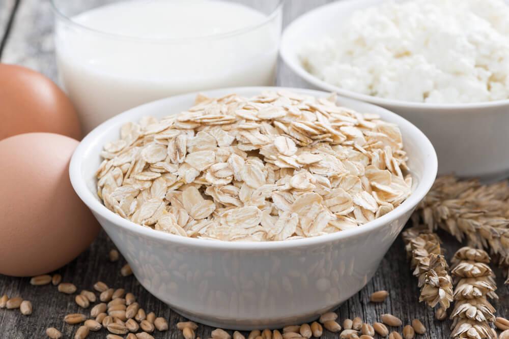 Batidos de proteína vegetal: avena.