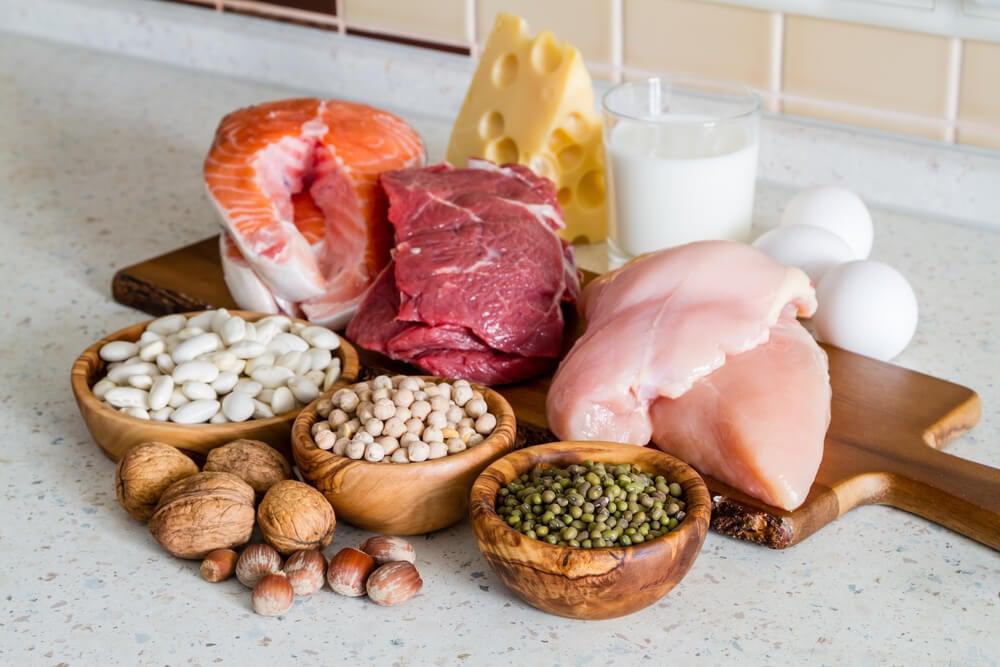 Diferentes tipos de proteína.