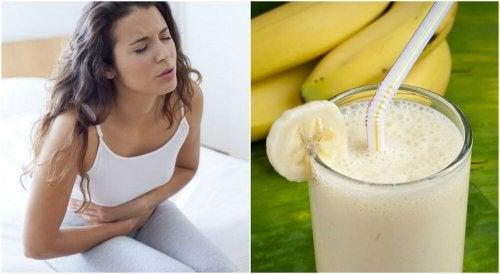 Licuado de patata y banana para aliviar las úlceras estomacales