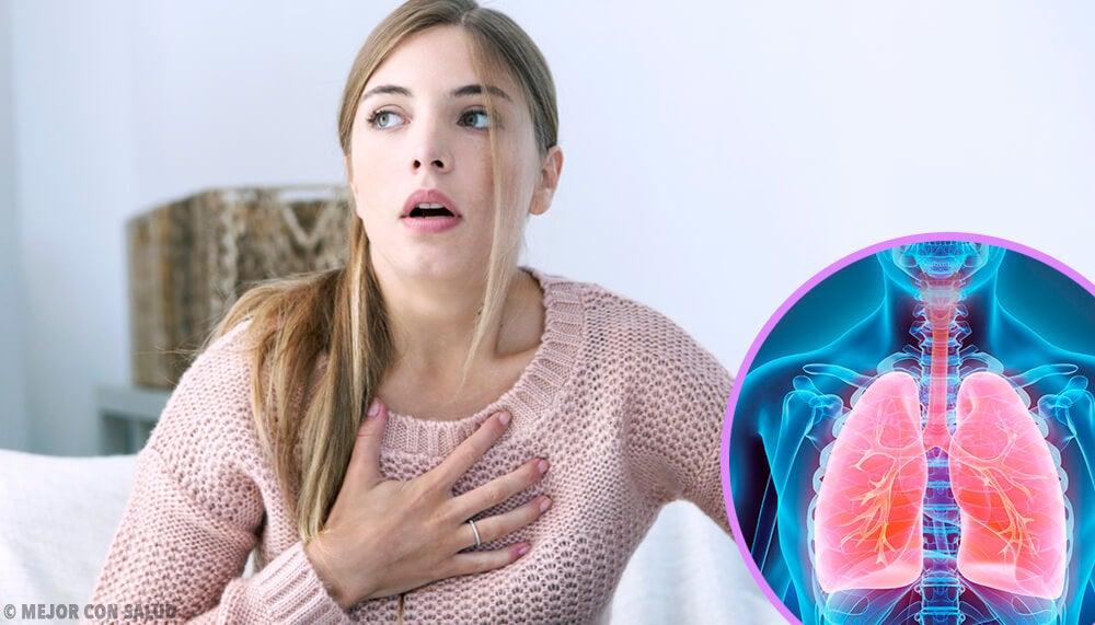 Chica con enfermedad respiratoria.