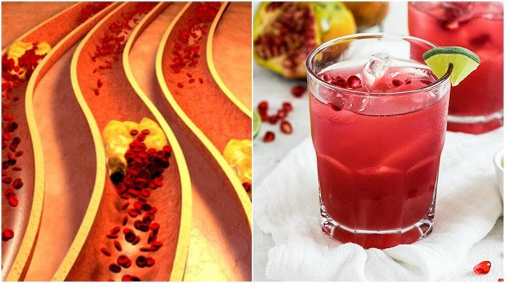 Remedio de granada y aloe vera para limpiar las arterias