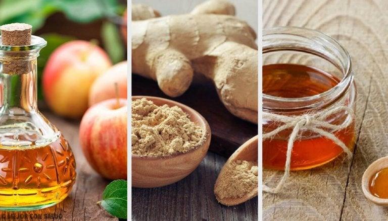 Tónico digestivo, adelgazante y revitalizante de vinagre, jengibre y miel