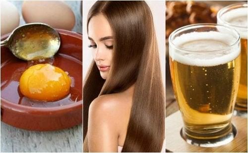 Tratamiento de huevo y cerveza para un cabello sedoso y saludable