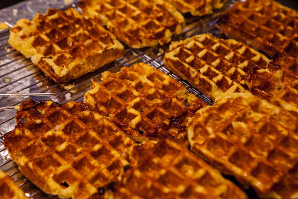 Waffles de chocolate