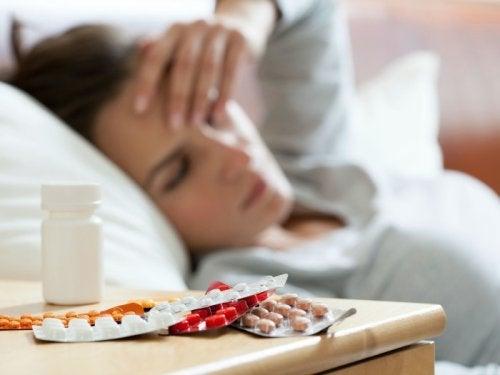 Persona tras haber consumido fármacos antidepresivos.