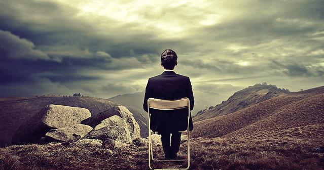 Hombre esperando