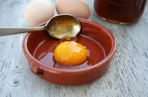 huevo cabello sedoso