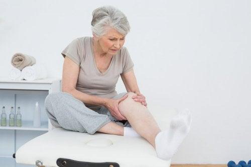 Inflamación de rodilla.