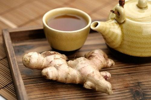 Raíz y té de jengibre: remedios para controlar los episodios de diarrea