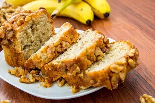 Pan de plátano y nueces libre de azúcar