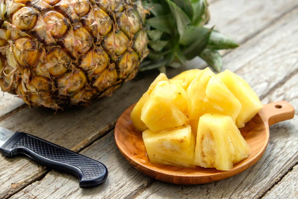 Frutas para combatir la retención de líquidos: piña