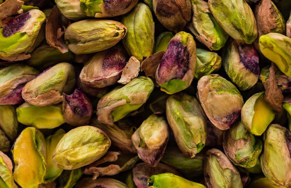 pistachos sin cáscara.