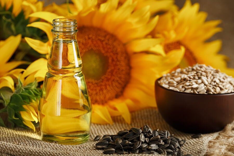 Semillas y aceite de girasol