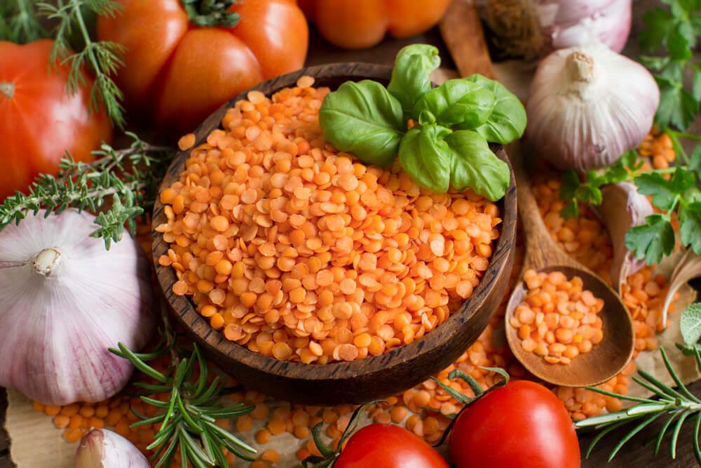 4 propiedades de las lentejas rojas para la salud